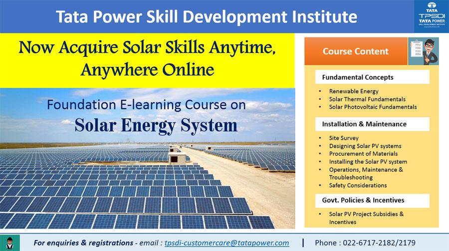 TPSDI - Tata Power Skill Development Institute in India